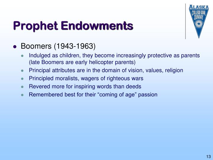 Prophet Endowments