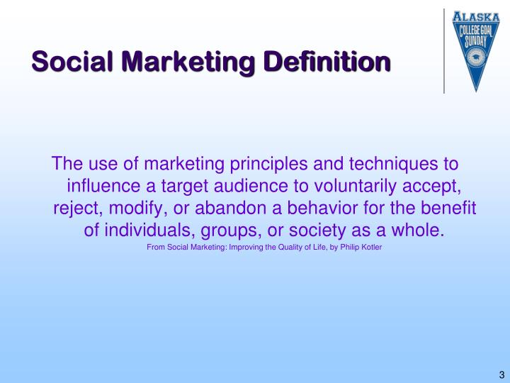 Social marketing definition