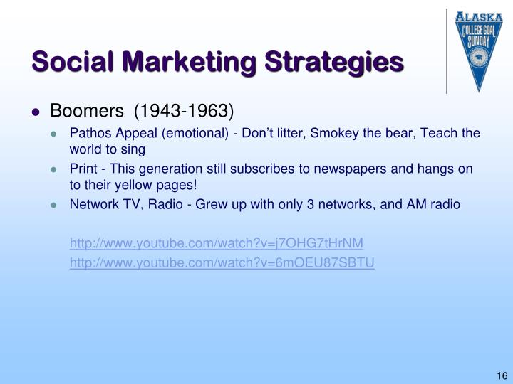 Social Marketing Strategies