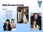 well known artists