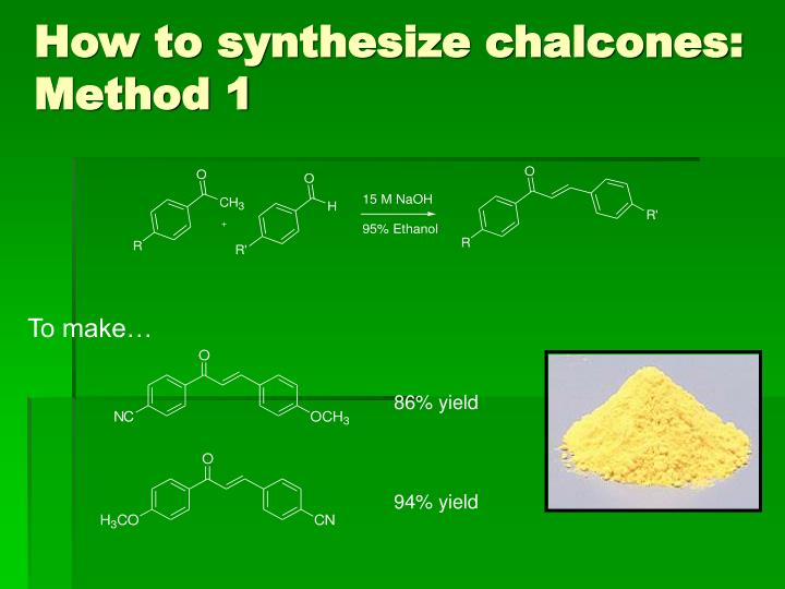 How to synthesize chalcones: Method 1