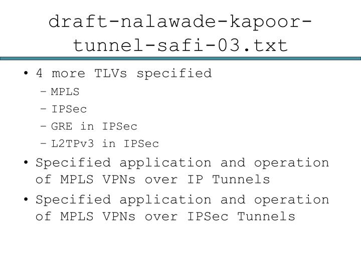 draft-nalawade-kapoor-tunnel-safi-03.txt