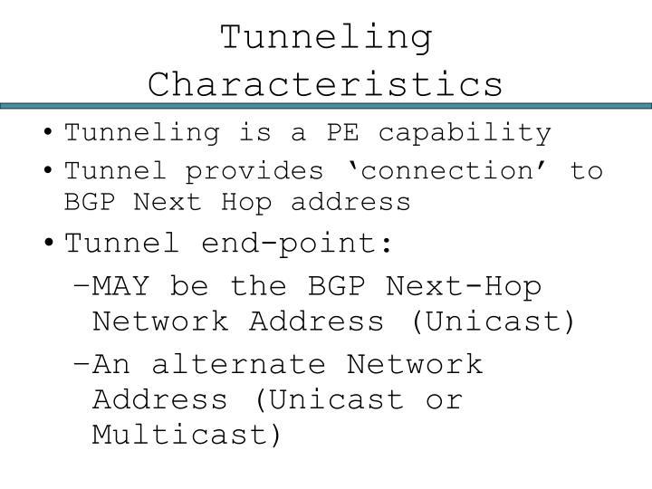 Tunneling Characteristics