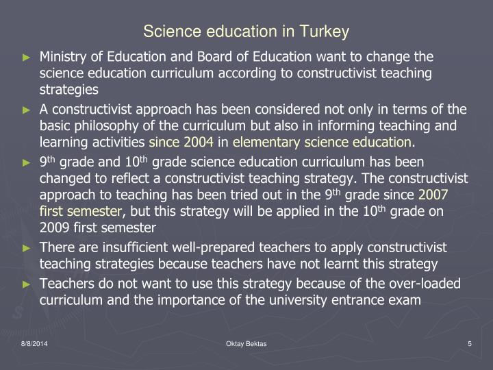 Science education in Turkey