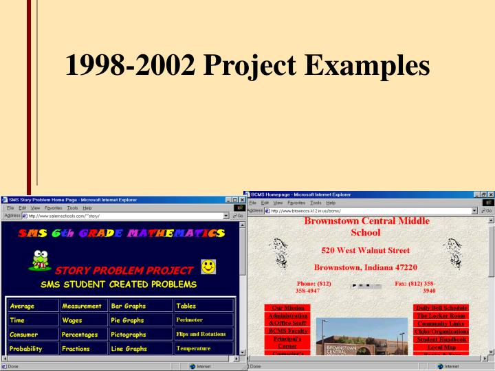 1998-2002 Project Examples