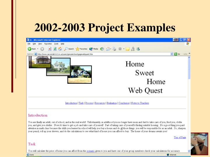 2002-2003 Project Examples