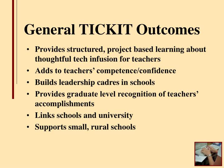 General TICKIT Outcomes
