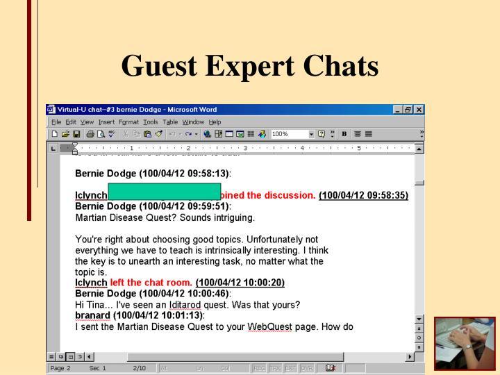 Guest Expert Chats