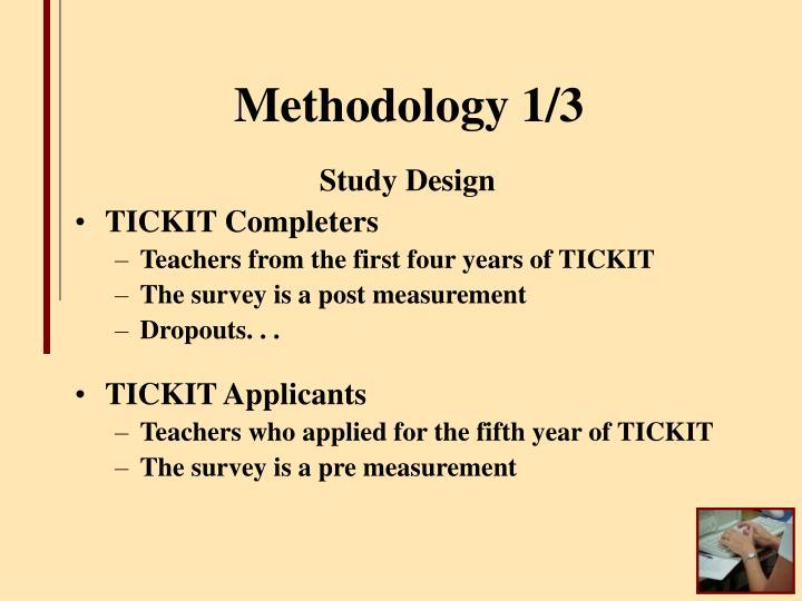Methodology 1/3