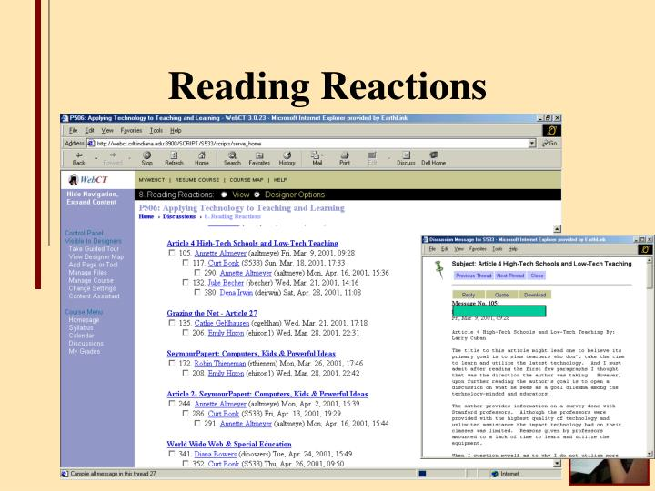 Reading Reactions