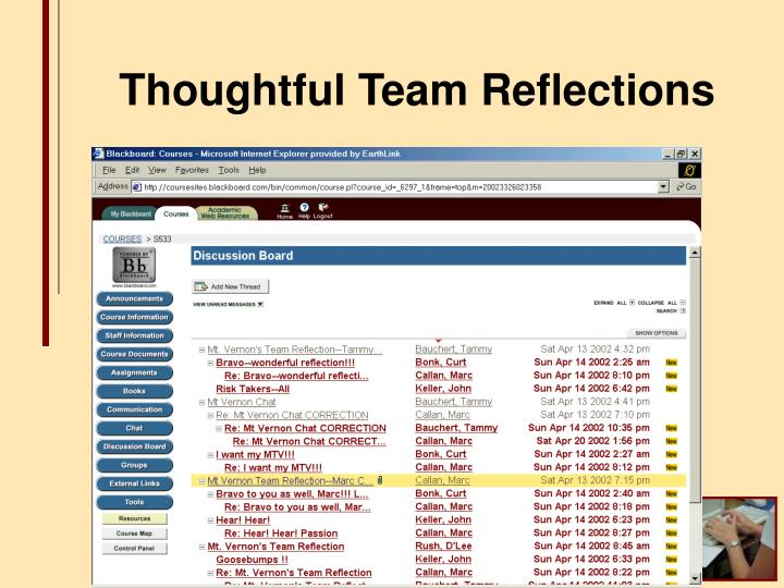 Thoughtful Team Reflections