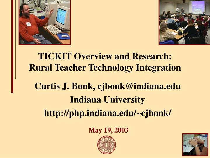 tickit overview and research rural teacher technology integration