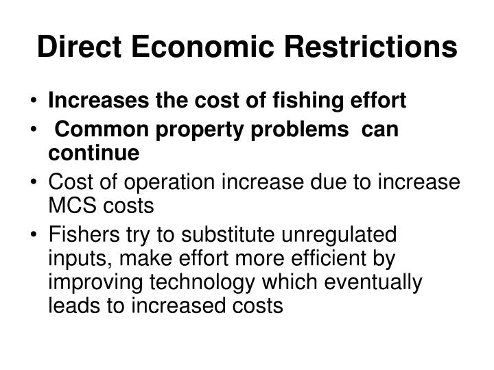 Direct Economic Restrictions