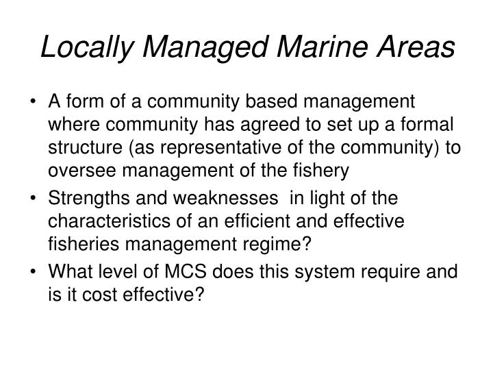 Locally Managed Marine Areas