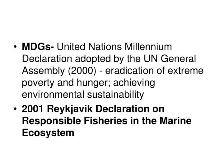 MDGs-