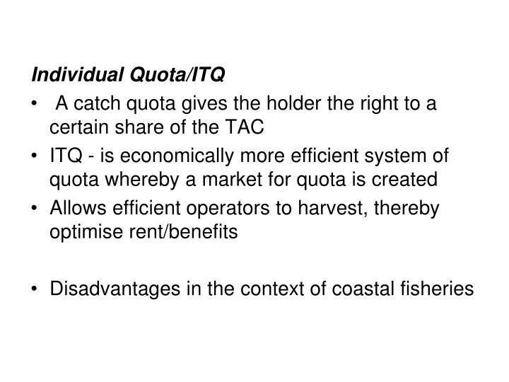 Individual Quota/ITQ
