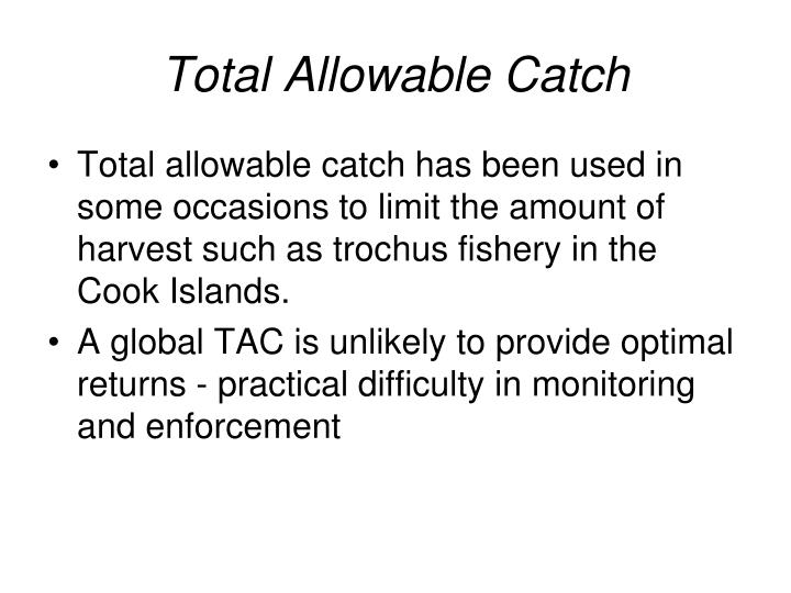 Total Allowable Catch