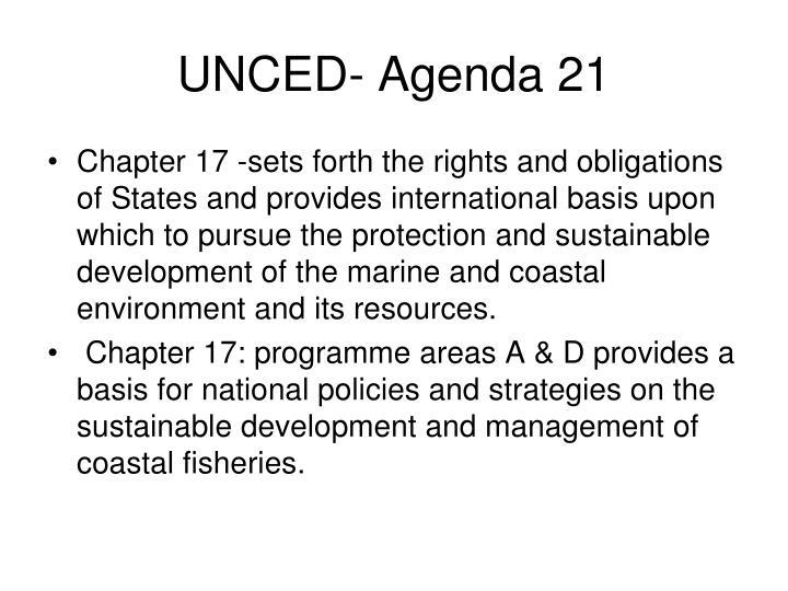 UNCED- Agenda 21