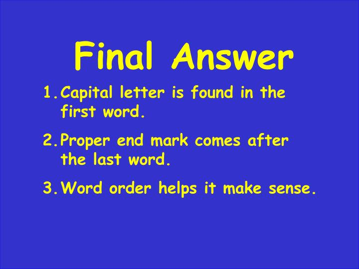 Final Answer