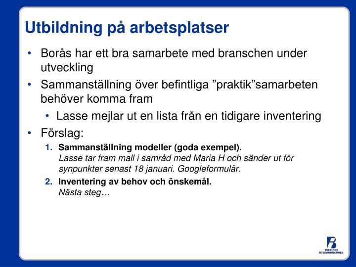 Borås har ett bra samarbete med branschen under utveckling