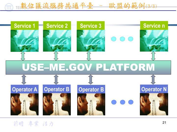 數位匯流服務共通平臺