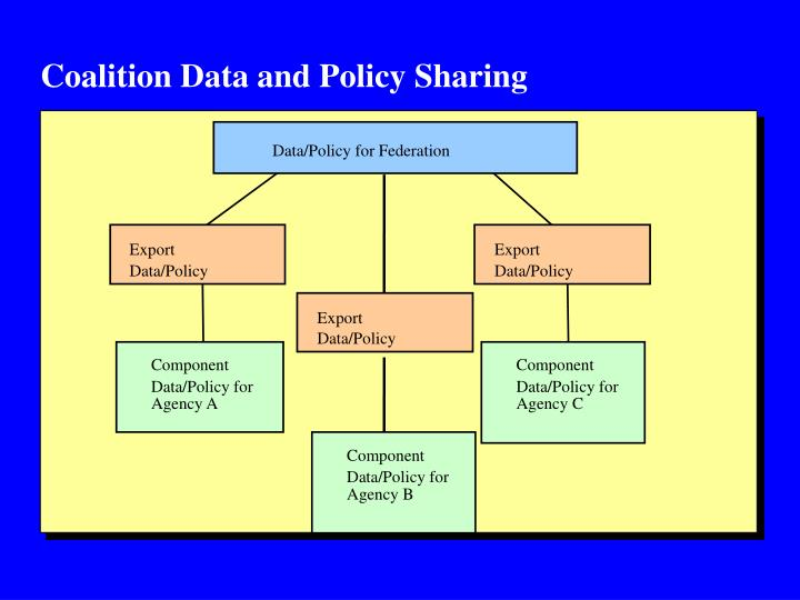 Coalition Data and Policy Sharing