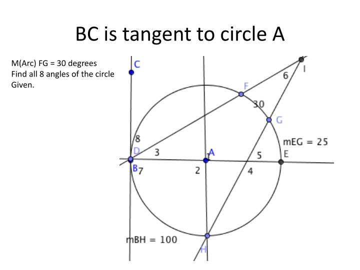 BC is tangent to circle A