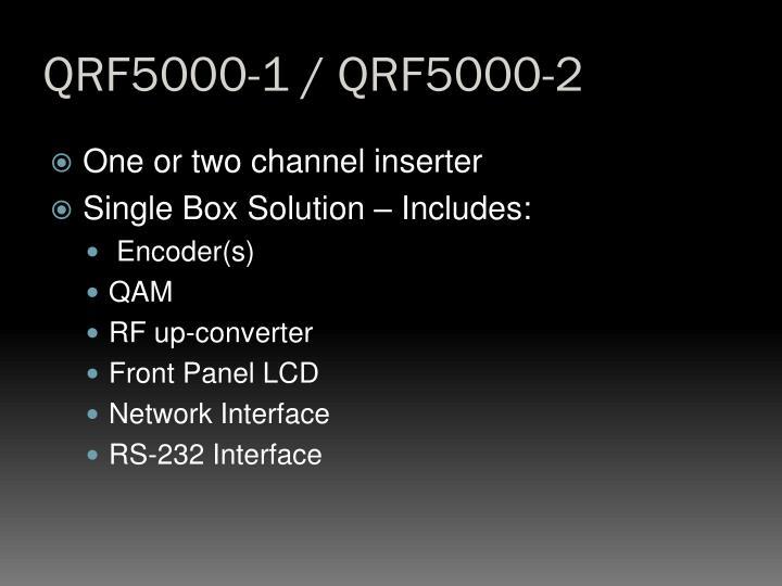 QRF5000-1 / QRF5000-2
