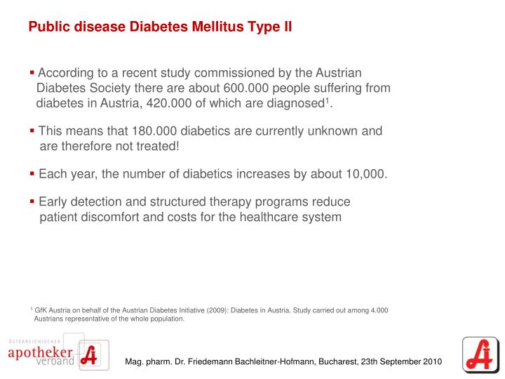 Public disease diabetes mellitus type ii