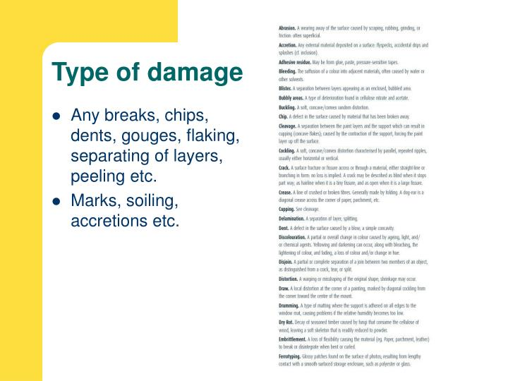 Type of damage