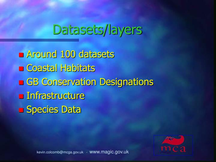 Datasets/layers