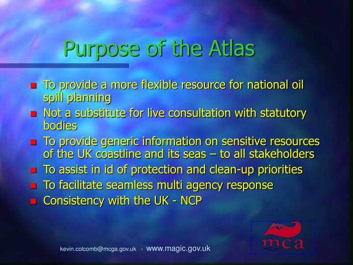 Purpose of the Atlas