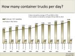 how many container trucks per day