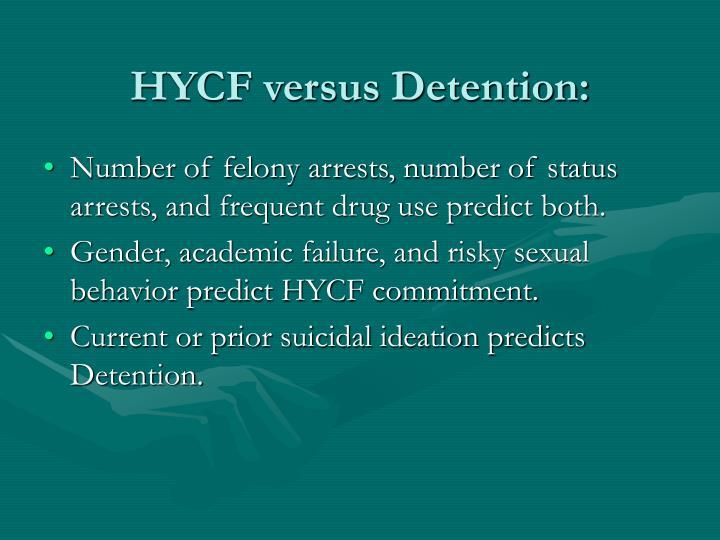 HYCF versus Detention: