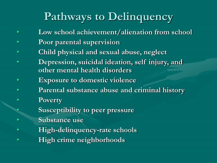 Pathways to Delinquency