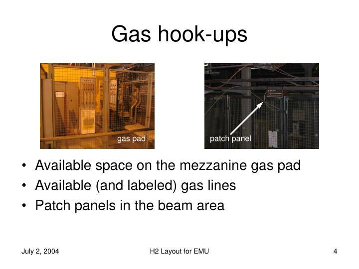 Gas hook-ups