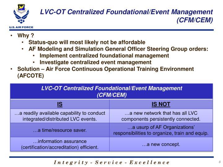 LVC-OT Centralized