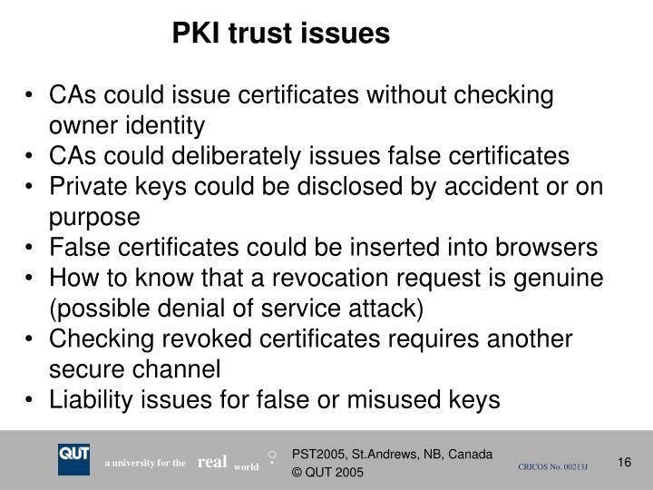 PKI trust issues