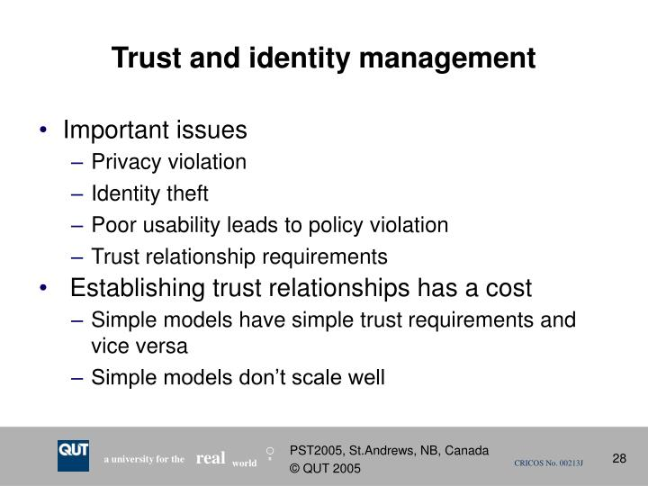 Trust and identity management
