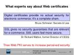 what experts say about web certificates