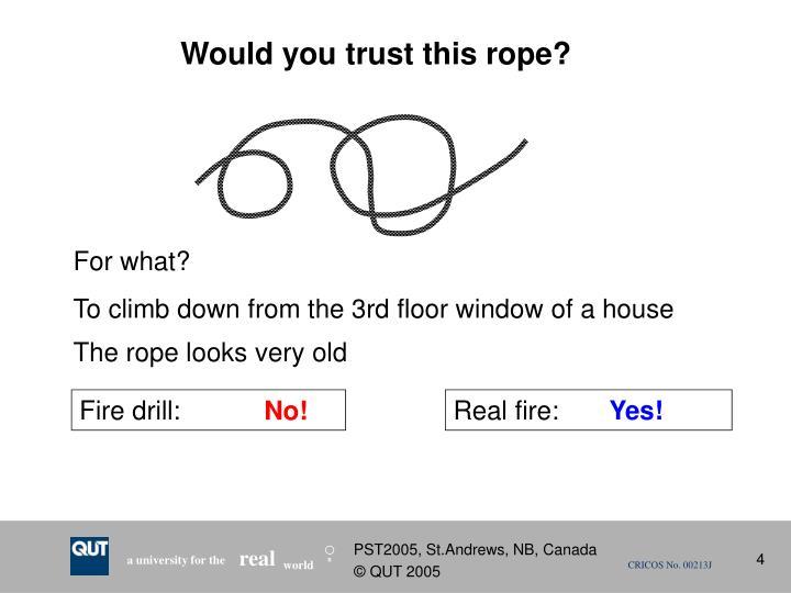 Fire drill: