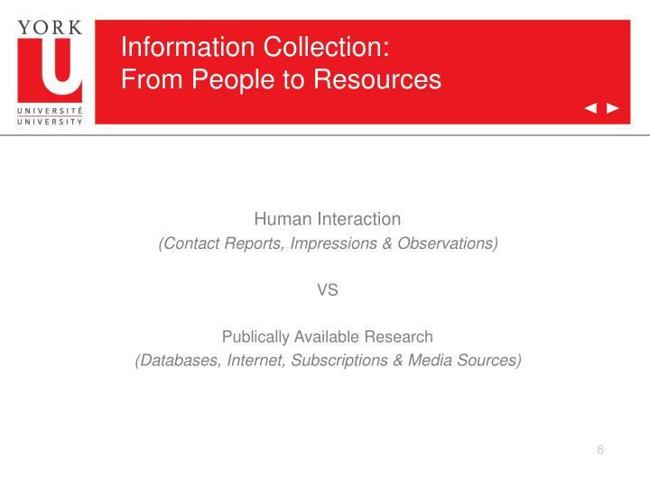 Information Collection: