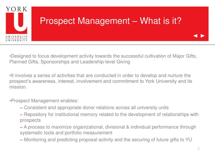 Prospect Management – What is it?