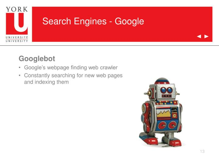 Search Engines - Google
