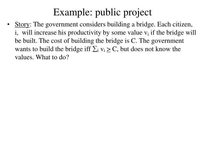 Example: public project