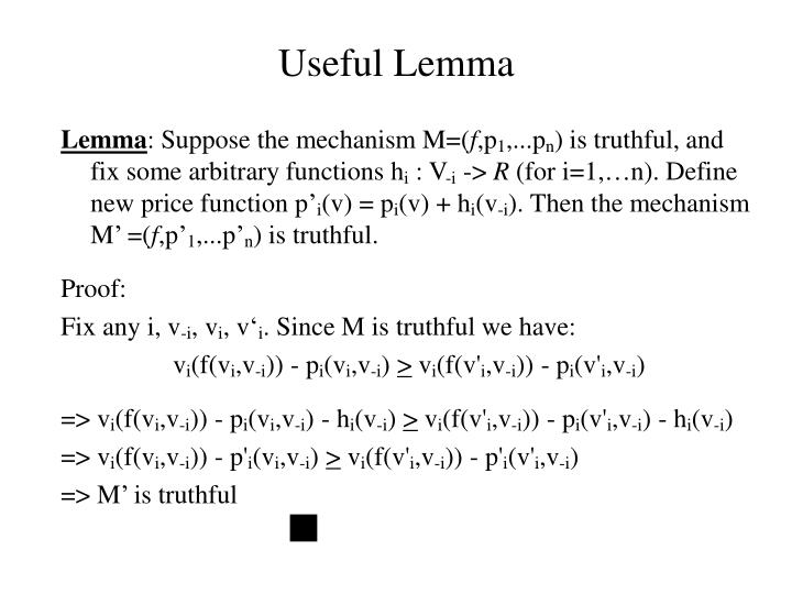 Useful Lemma
