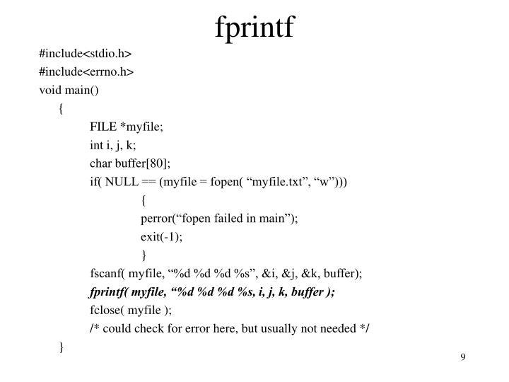 fprintf
