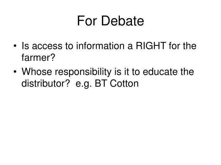 For Debate