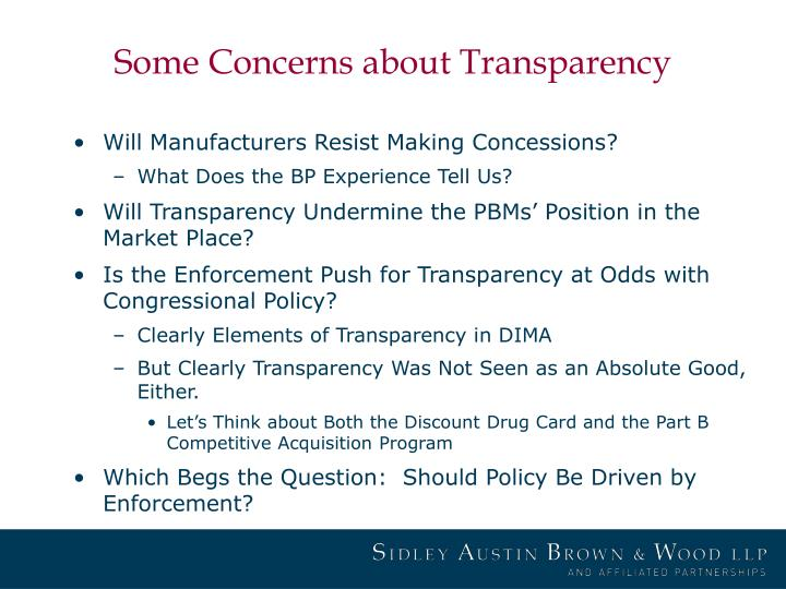 Some Concerns about Transparency