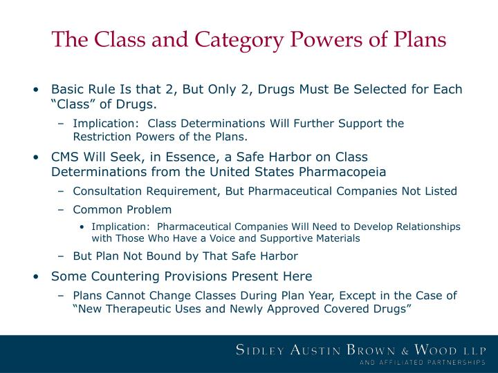 The Class and Category Powers of Plans